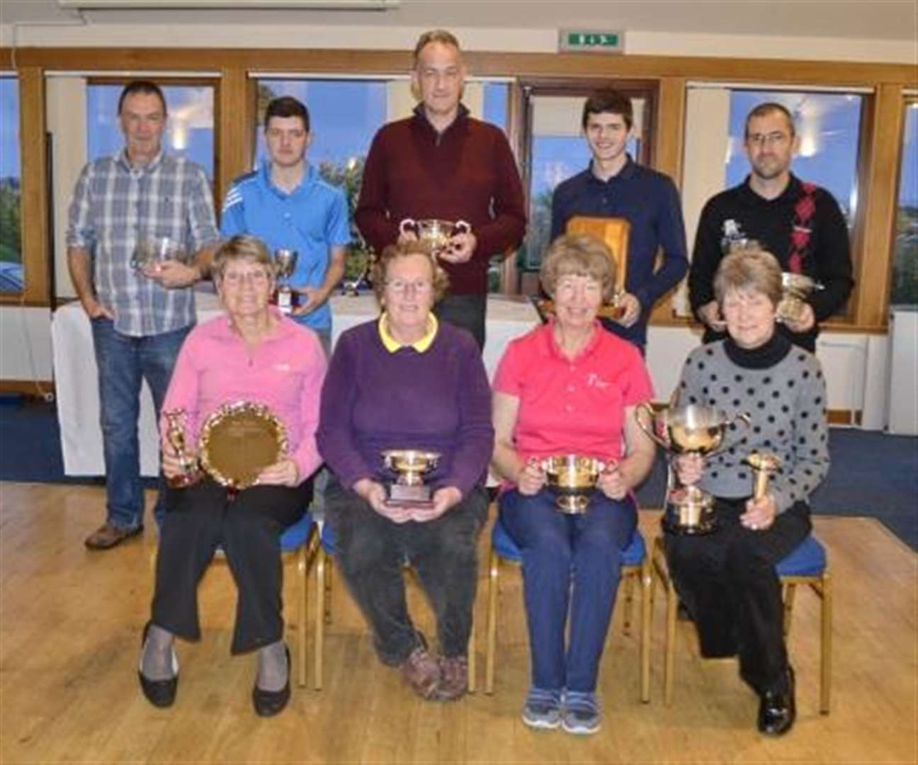 Alness Golf Club prize guys in the frame