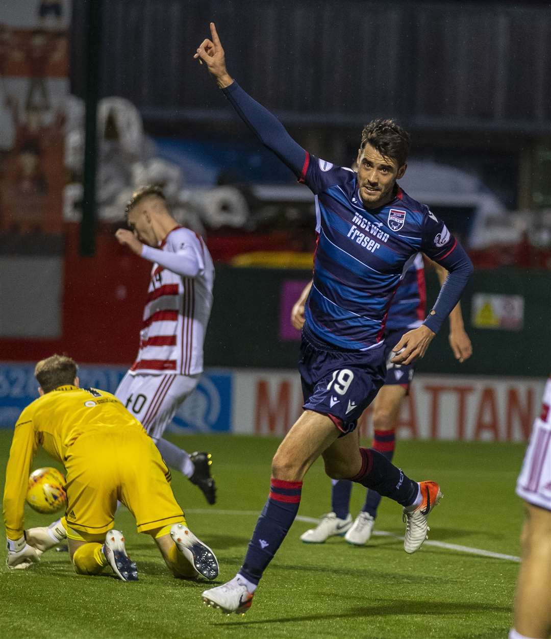 Brian Graham scored a late equaliser against Ross County. Picture: Andy Barr.