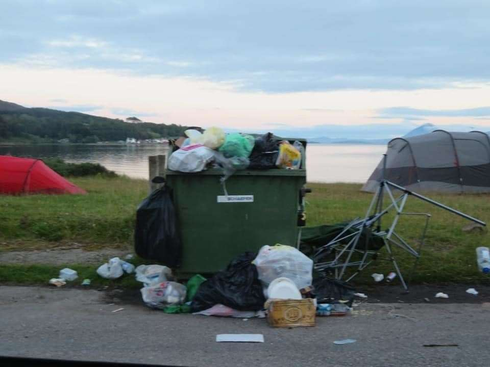 Littering and 'dirty camping' has been an issue creating tension as visitors return.