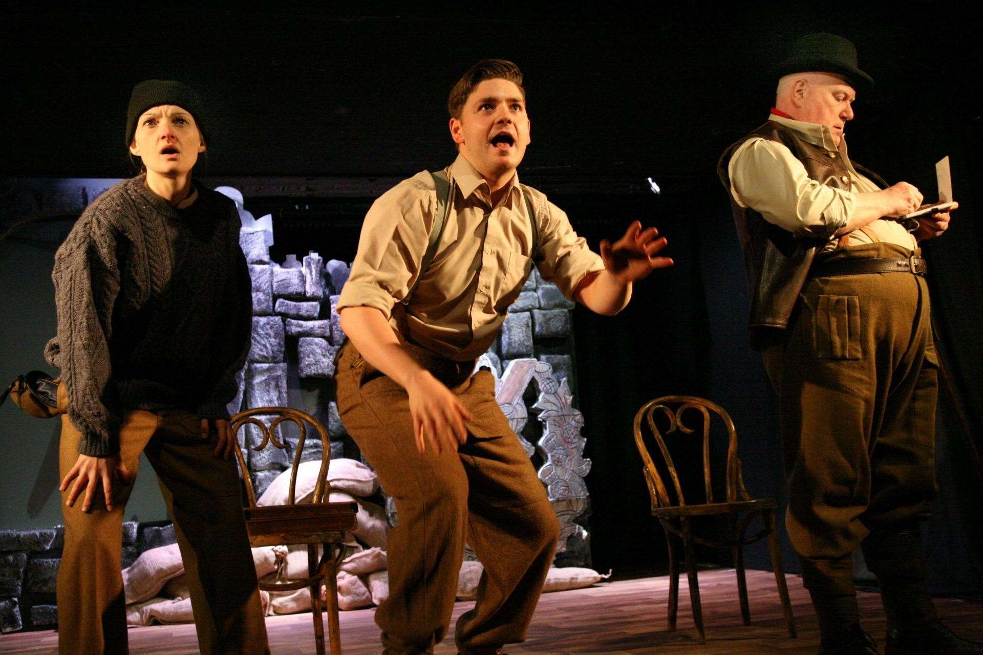 The play, The Beaches of St Valery, depicts the events of 80 years ago.