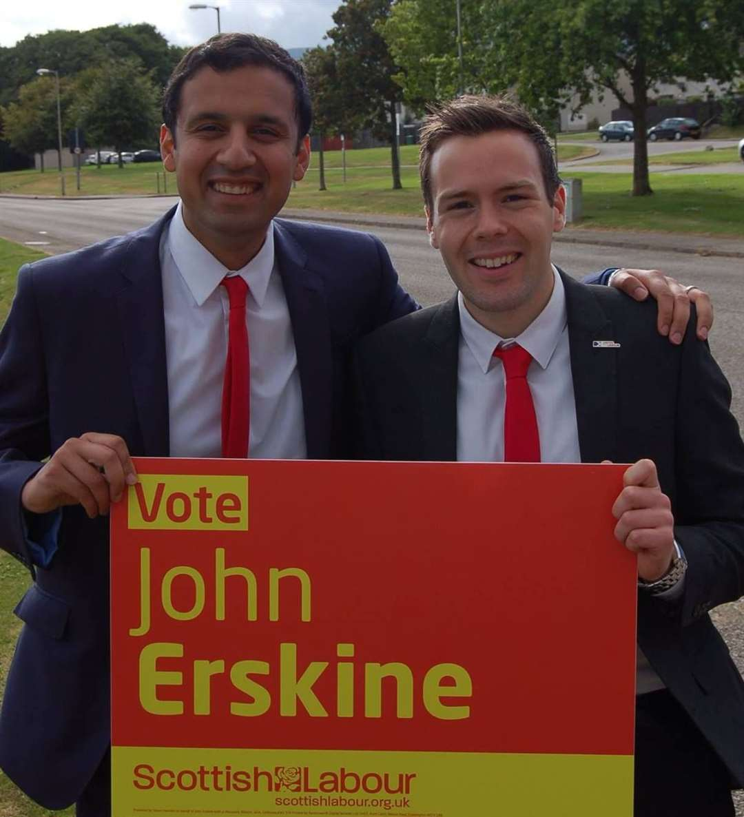 New Scottish Labour Party Leader Anas Sarwar and John Erskine on the election trail.