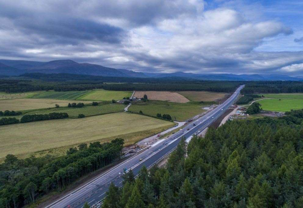 The A9 is being dualled between Perth and Inverness.