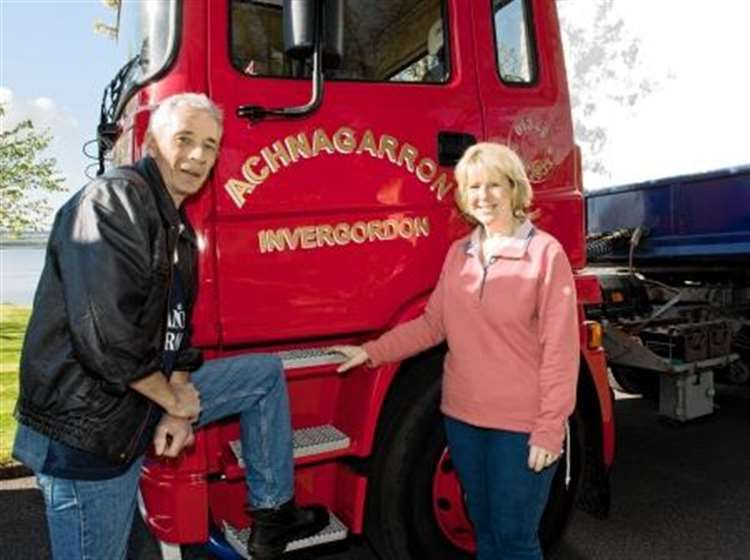 John and Shirley Mackenzie, organisers of the upcoming Highland Historic  Commercial Vehicle Road Run.