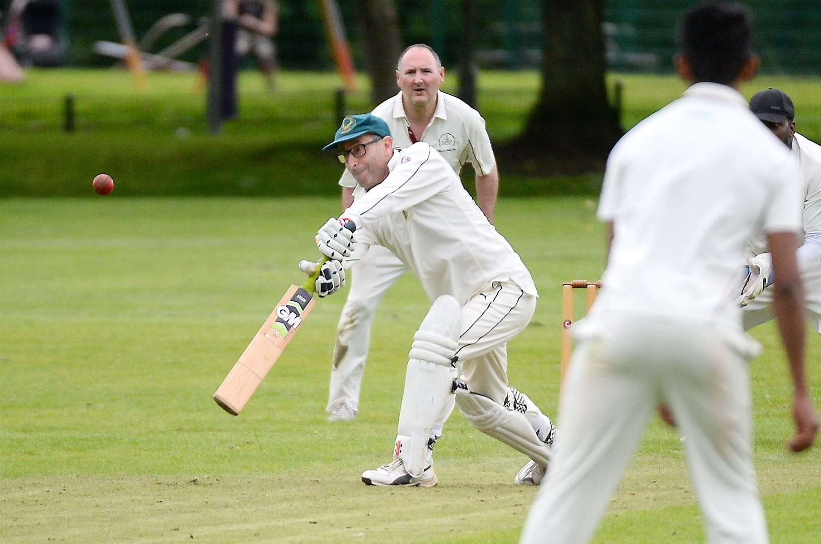 Cricket at Fraser Park..Highland v Ross County..Renato Belli in action for County..Picture: Gary Anthony. Image No.044421.