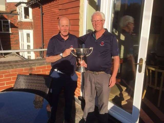 David Paterson and Riff Clark with the Auld Enemy Cup.