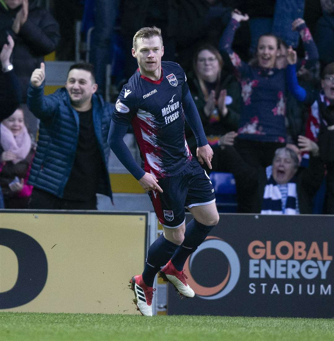 Billy Mckay has signed a new two-year contract to stay at Ross County. Picture: Ken Macpherson