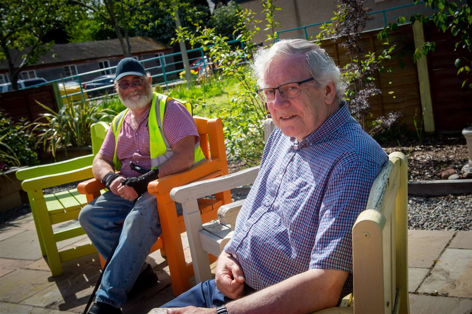 Steve Dovey and Raymond Jackson of Dingwall Men's Shed.