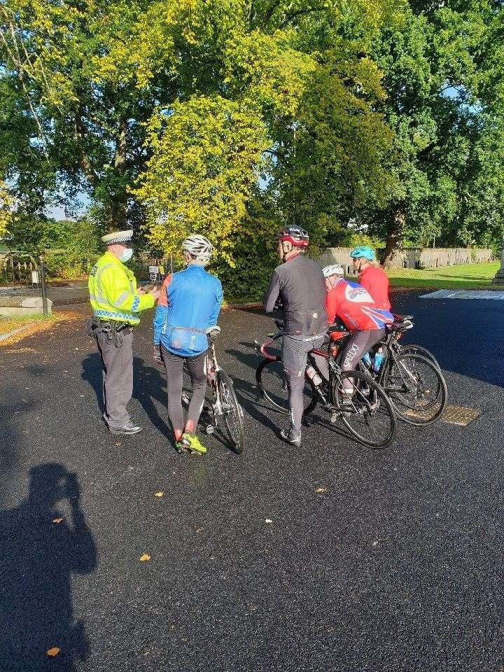 Police spoke to drivers and cyclists during the operation and said they were happy most abided by the law.