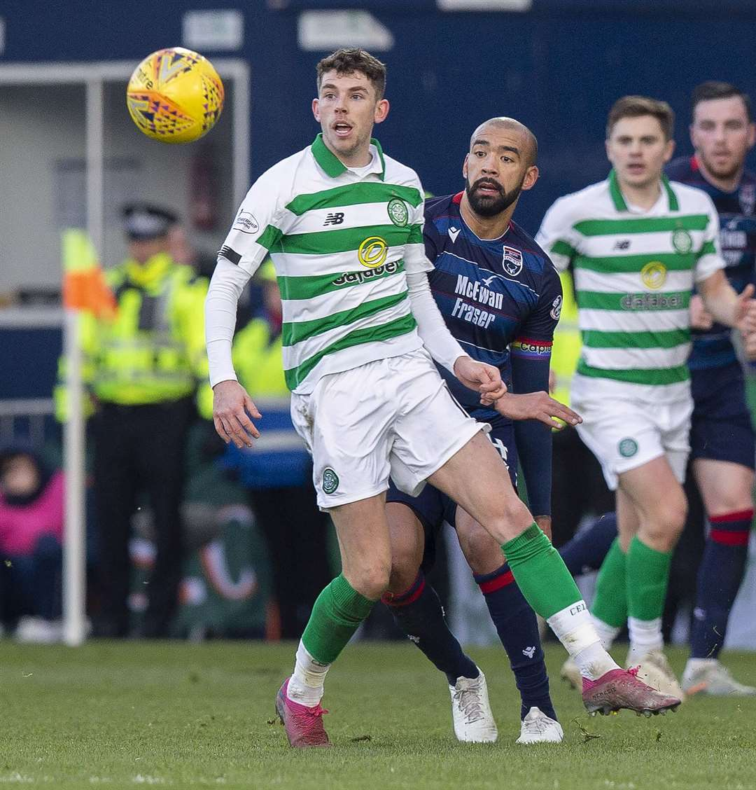 Ross County's Liam Fontaine – pictured against Celtic earlier in the season – would have preferred to keep playing over the last two weekends. Picture: Ken Macpherson