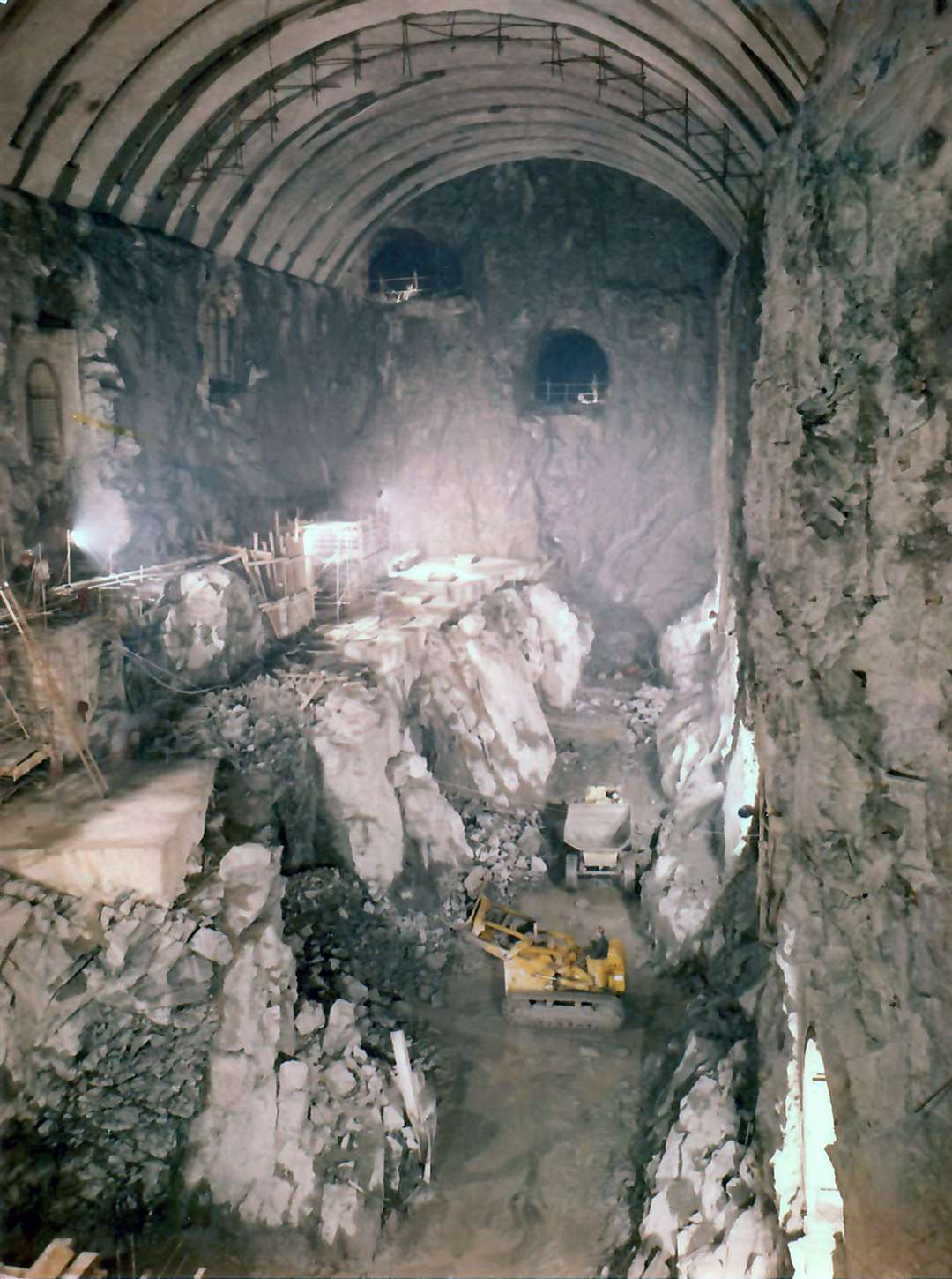 Inside one of the chambers in the Foyers hydro scheme which was excavated as part of the project that was finished in 1975. Picture supplied by John Davidson