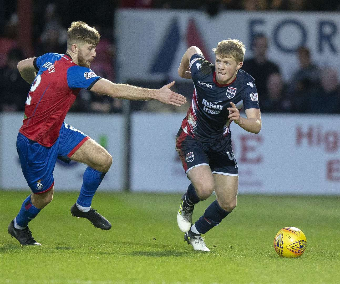 Tom Grivosti has signed a new contract to stay at Ross County. Picture: Ken Macpherson