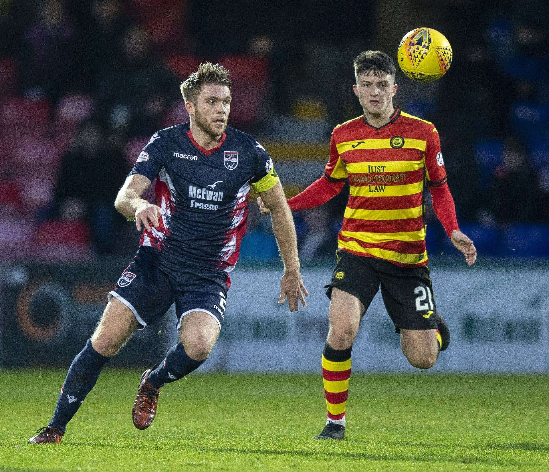 Both teams will be desperate for three points tomorrow – Ross County to move a step closer to title glory, and Partick Thistle to try and move away from relegation. Picture: Ken Macpherson