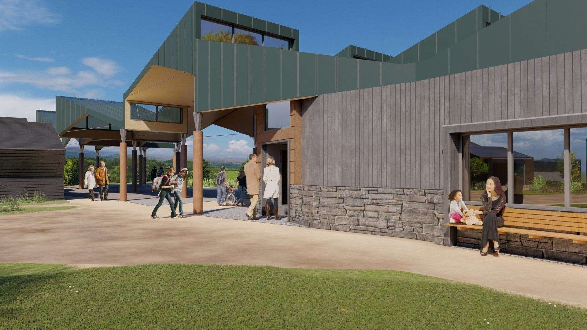 The proposed Discovery Hub at the wildlife park.