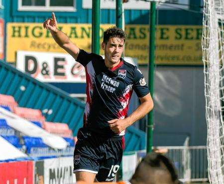 Four goals from Brian Graham helped seal Ross County's place in the Irn-Bru Cup third round.