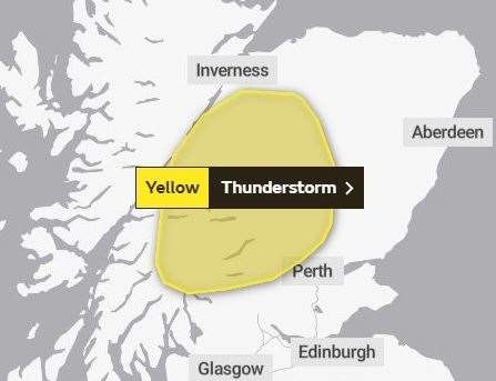 Thunder storm warnings extended until Monday in Wales
