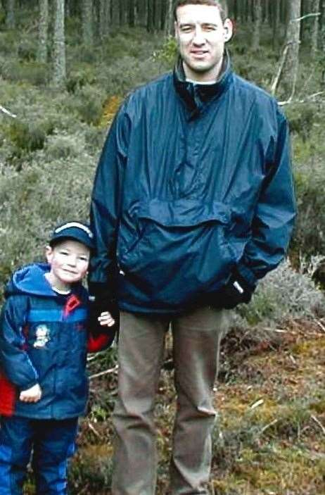 Alistair Wilson with son Andrew (4).