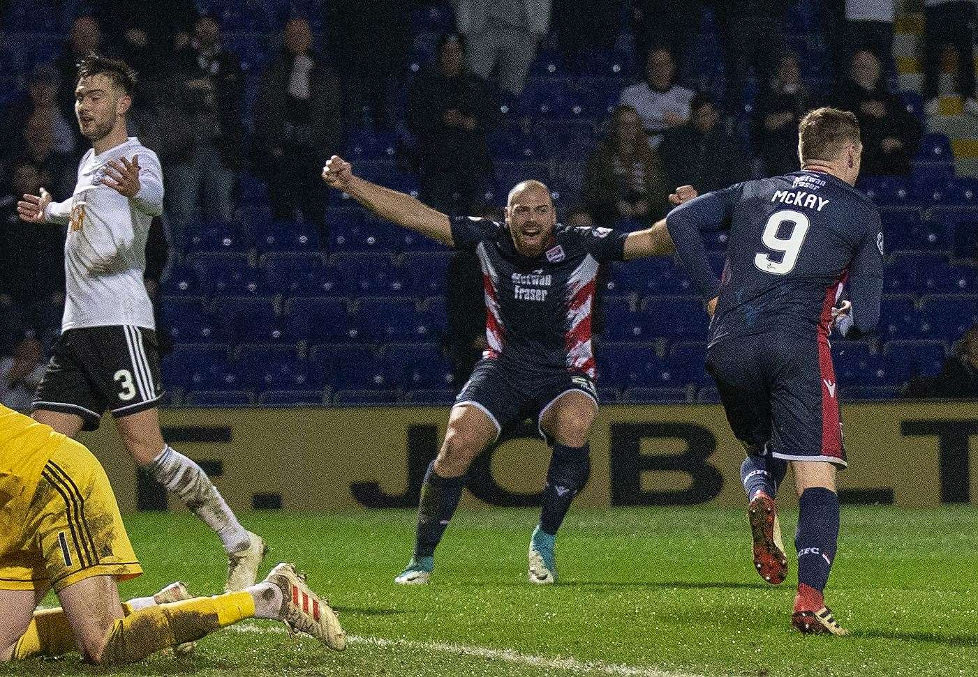 Kenny van der Weg has had plenty of reason to celebrate since rejoining the Staggies at the start of the year. Picture: Ken Macpherson