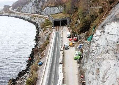 Major work was also carried out on the Stromeferry bypass last year.