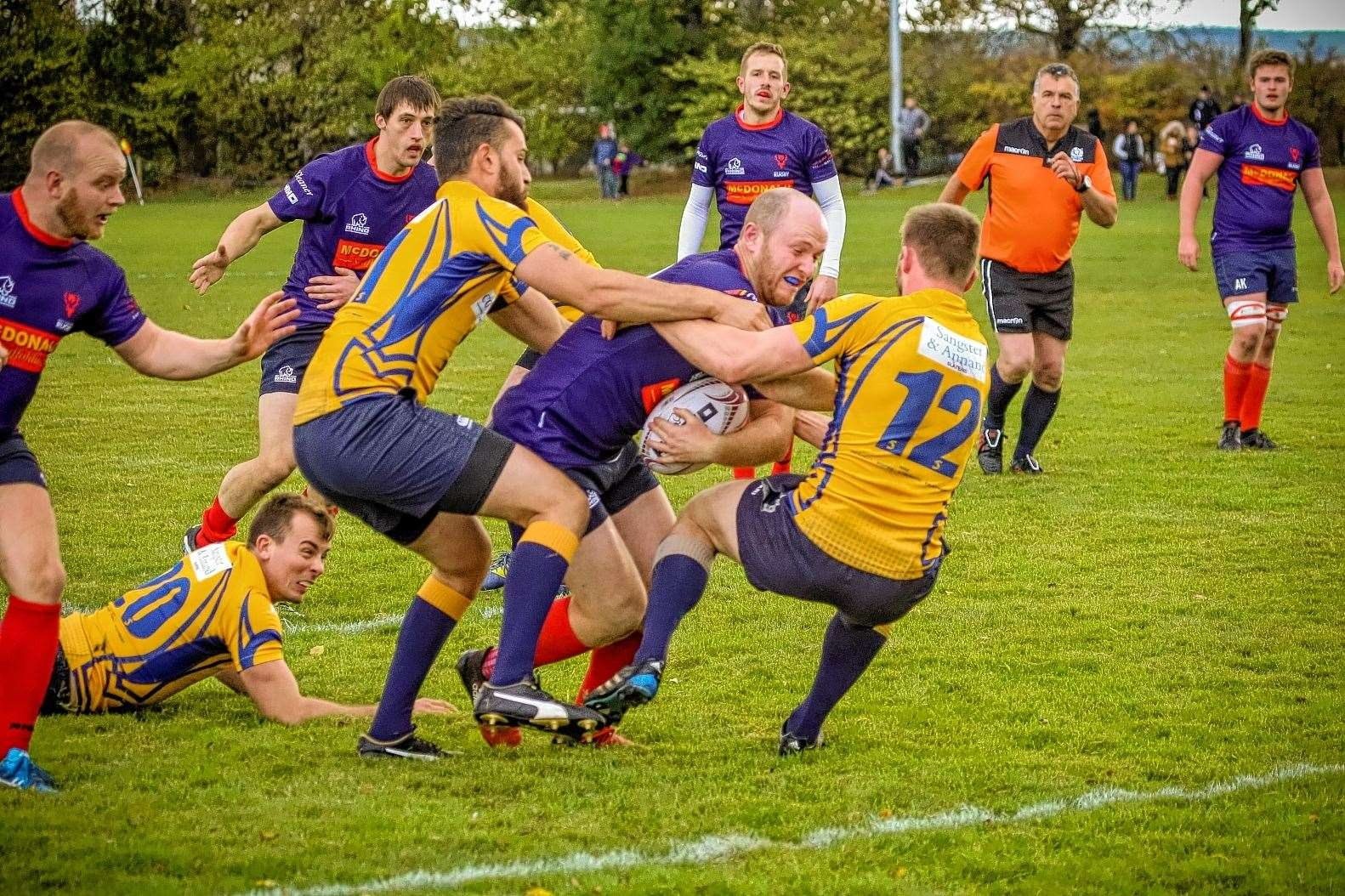 John Mann is struggling with a twisted knee going into tomorrow's derby match against Highland 2nds. Picture: Peter Carson