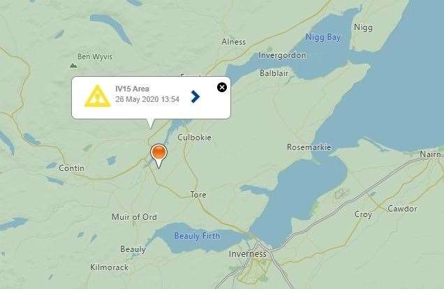 The power cut affected 51 postcodes dotted in and around the Dingwall area. Picture: SSEN.