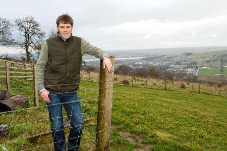 John Mckenzie at the site where he plans to build a new community-owned Dingwall distillery. Picture: Ian Rhind