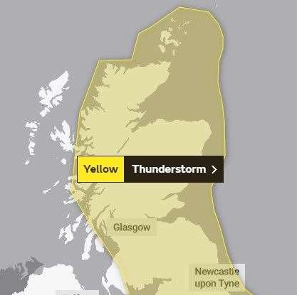 The second alert, which runs from midday on Friday until 9am on Saturday. Picture: Met Office.