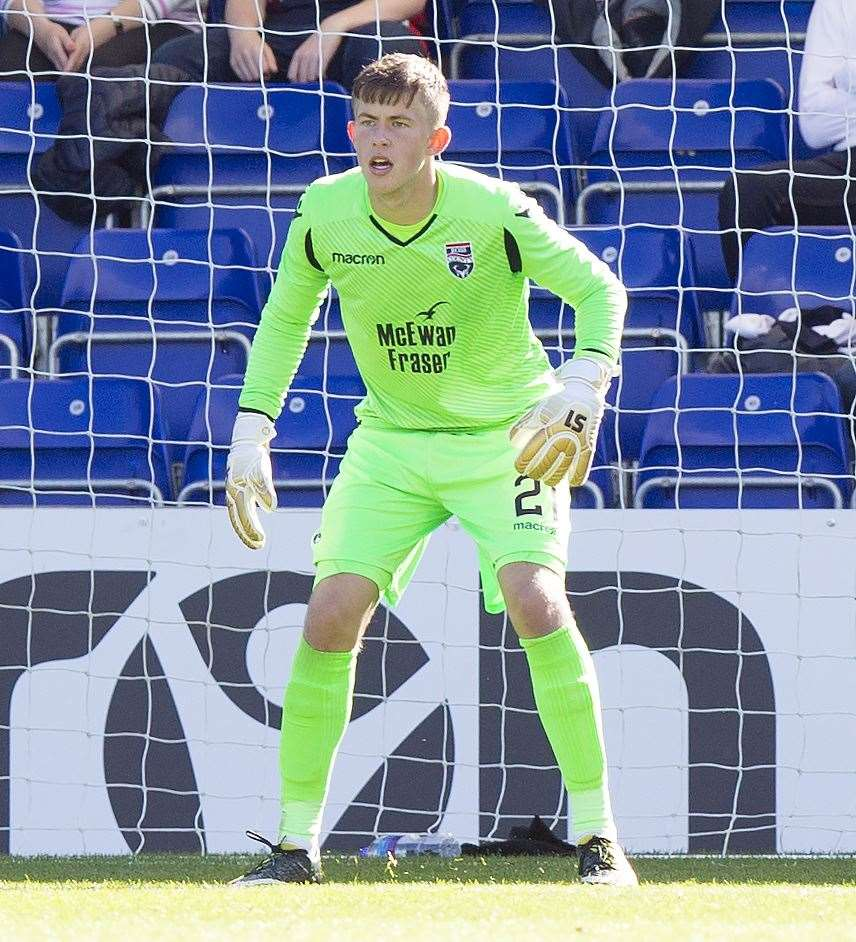 Picture - Ken Macpherson, Inverness. Irn-Bru Cup. 2nd Round. Ross County(5) v Raith Rovers(0). 08.09.18. Ross County 'keeper Ross Munro.