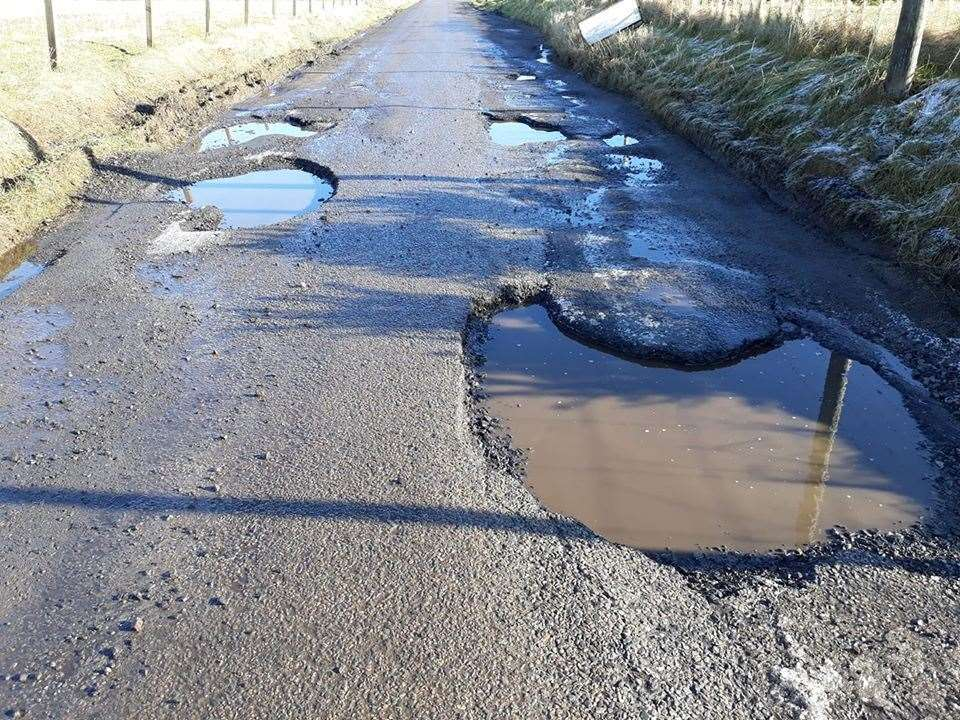 The Scotsburn potholes in Easter Ross have gone viral.