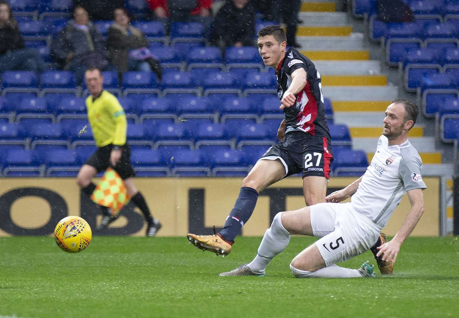Ross Stewart made it 3-0 for Ross County. Picture: Ken Macpherson