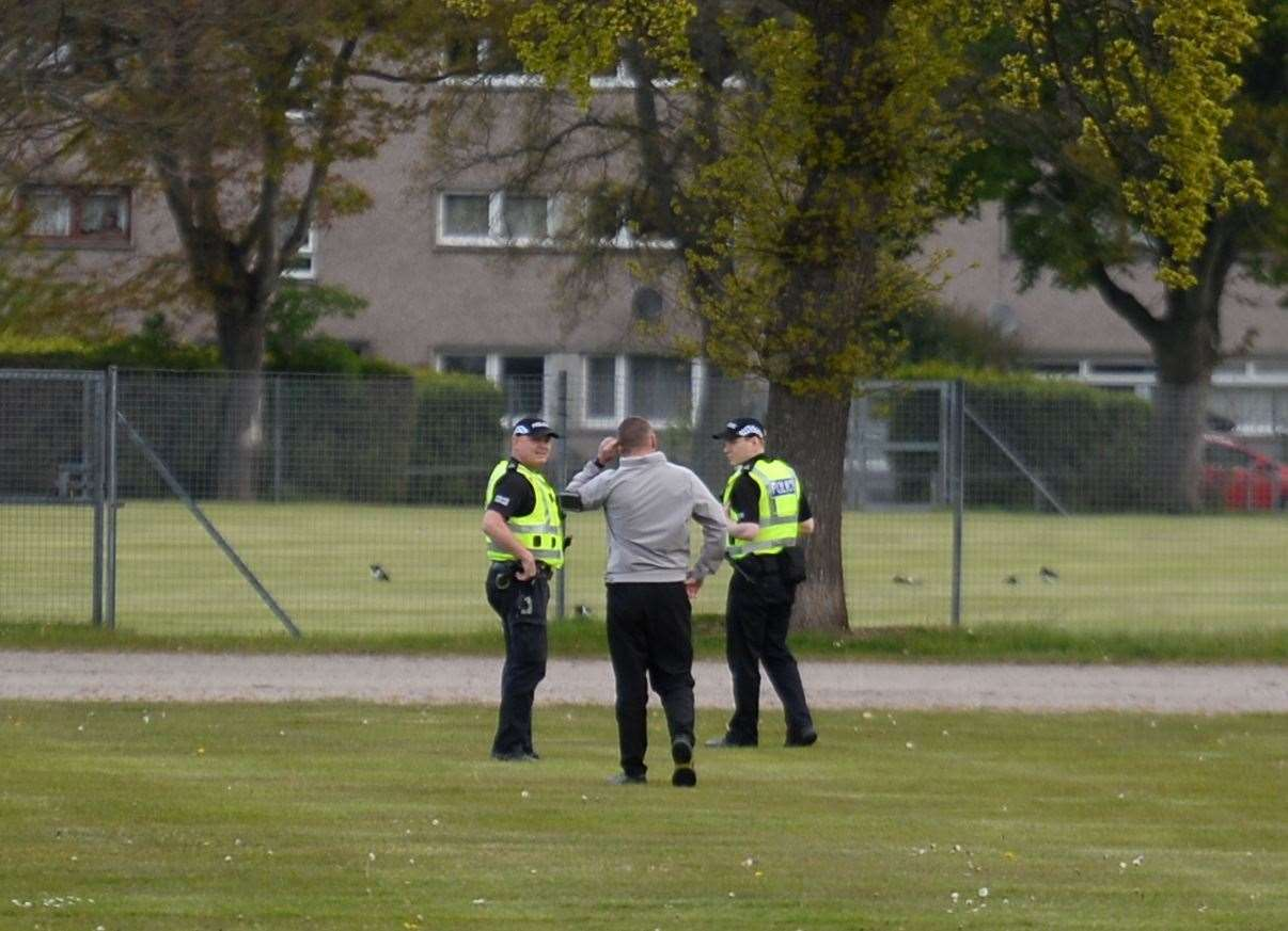Police at Bught Park.