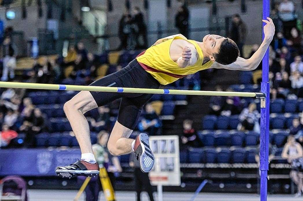 Angus Davren will be competing in the high jump and 100m for Orkney at the Island Games. Picture: Bobby Gavin